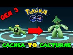 Cacnea Evolution Chart Evolve Cacnea Pokemon Go
