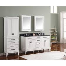 Free Standing Linen Cabinets Made Of Oak Wood In White Finsihed ...