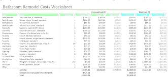 Home Renovation Spreadsheet For Costs Home Renovation Cost Estimator Spreadsheet Fresh