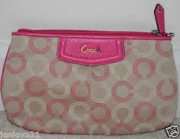 New COACH Ashley Dot Op Art Large Wristlet Khaki Pink Fuchsia Purse 48053   98    1692968459