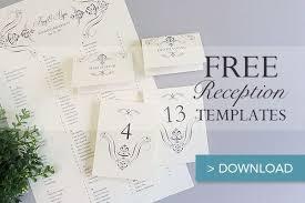 Wedding Reception Templates Free Free Printable Wedding Reception Templates Fun Wedding