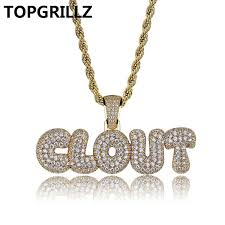 wish topgrillz custom name bubble clout letters combine pendant necklace hip hop men s trendy jewelry