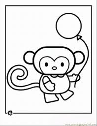 Download and print these cartoon monkey coloring pages for free. Cartoon Animal Monkey Coloring Page For Kids Free Monkey Printable Coloring Pages Online For Kids Coloringpages101 Com Coloring Pages For Kids