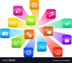 Graphic Design Software Icons Software Concept Cloud Of Colorful Program Icons