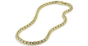 attractive david yurman necklace mens best of lyst box chain in 18k david yurman mens necklace