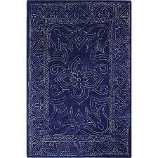 8 x 10 large navy blue rug venezia