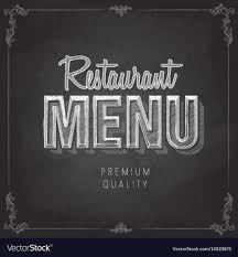 Menu Drawing Design Chalk Drawing Typography Restaurant Menu Design