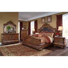 michael amini tuscano melange 4pc king size bedroom set by aico