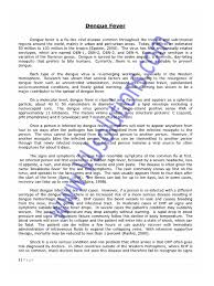dengue fever ba english essay