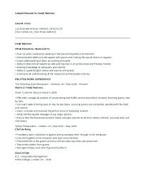 Sample Resume For A Waitress Restaurant Waiter Resume Restaurant ...