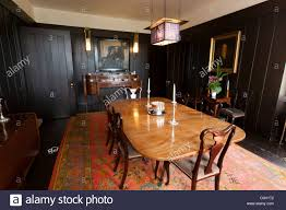 The Dining Room With Dark Wood Panels At Hill House By Charles - Dining room furniture glasgow