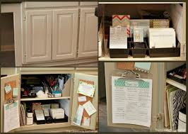 kitchen office organization. Organize- Clutter Free- Ideas- Tips For Organizing Save. Kitchen Cabinet Mini Office- Office Organization E