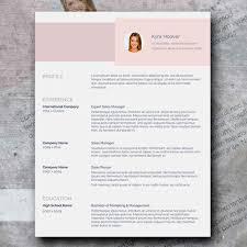 Resume Modern Ex Cv Modern Pink Resume Design Word Format Curriculum Vitae