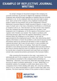Example Of A Reflective Essay Reflective Practice Example Essay Www Moviemaker Com