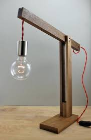 the catapult modern wood arm lamp in walnut contemporary light fixture articulating wooden table diy desk