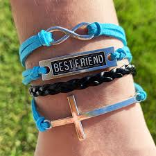Jesus Is The Light Wristbands Best Friends Forever Cross Bracelet