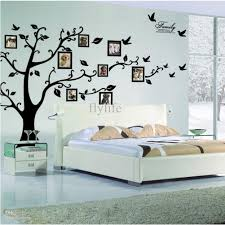 large size black family photo frames tree wall stickers diy home throughout most popular home