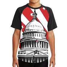 Dc Youth Size Chart Amazon Com Youth 3d Print Short Sleeve Tee Washington Dc