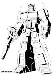 Fanciful Printable Transformers Coloring Pages Bumblebee Free