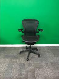 herman office chair. Herman Miller Aeron Black Mesh Refurbished Operator Office Chair