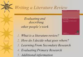Selecting a Research Problem and Literature Review   ppt video