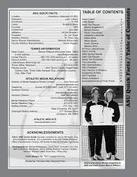 Asu Convocation Center Seating Chart Jonesboro Ar 2006 07 Tennis Guide By Arkansas State Athletics Issuu
