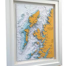 Sea Charts Scotland 3d Nautical Charts Of Scotland The North Uk Landfall Artwork