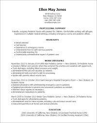 Emergency Room Registered Nurse Resume Examples