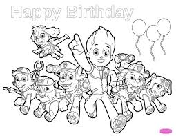 Paw Patrol Coloring Pages Pdf And Paw Patrol Happy Birthday