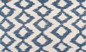 blue and white flatweave rug
