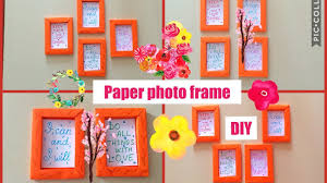 How to make paper frame.  Photo frame DIY.  Wall decoration. Home  craft DIY.