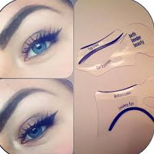 eye eyeliner stencils perfect cat eye makeup