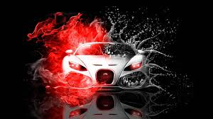 Red And Black Car Wallpaper
