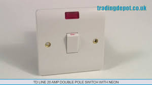 trading depot td line 20 amp double pole switch neon part no trading depot td line 20 amp double pole switch neon part no tlv324