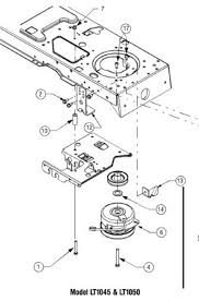 lt1045 pto replacement part 13 in the following diagram looks like the clutch bracket