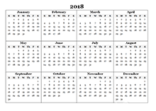 calender outline 2018 calendar templates download 2018 monthly yearly templates