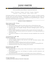 Sample Instructor Resume Instructor Resume 2