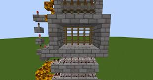 Minecraft Redstone Fence Gate Portcullis Single and