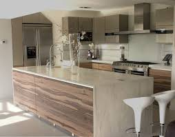 Kitchen:Amazing Countertop Modern Kitchen And White Bar Stools With Brown  Minimalis Island Contemporary Countertops