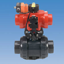 as i bus type way plastic actuated ball valves ashai america plastic actuated ball valves
