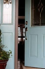 turquoise front doorhomemade Glazed Turquoise Front Door