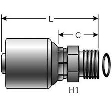 Details About Gates 10g 12mffor G25225 1012 Hydraulic Hose Fitting 072053408584 710202885