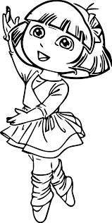 Small Picture Ballerina coloring pages dora ColoringStar