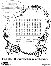 Small Picture pilgrim word search Colouring Pages for Thanksgiving Coloring