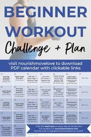 Fitness Challenge 30 Day Beginner Workout Plan Nourish
