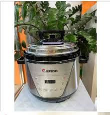 Nồi áp suất điện đa năng Rapido RPC900-D. An toàn với van tự xả áp khi quá  nhiệt 6 chức năng nấu. Hàng chính hãng bảo hành uy tín.