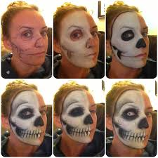 how to skull makeup special effect
