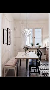 dining room table with bench against wall. Dining Area · Hadn\u0027t Thought About Up Against The Wall. But A Bigger Table Room With Bench Wall