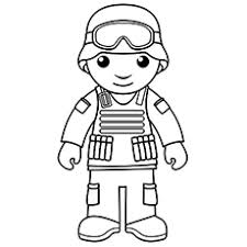 Clever Soldier Coloring Page With M16 Free Printable Pages To Print