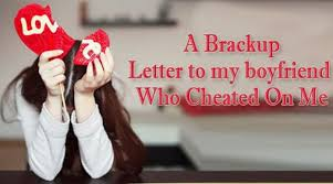 Break Up Letter To Cheater Free Letters